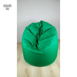 Csepp alakú, zöld babzsák fotel, közepes méretben